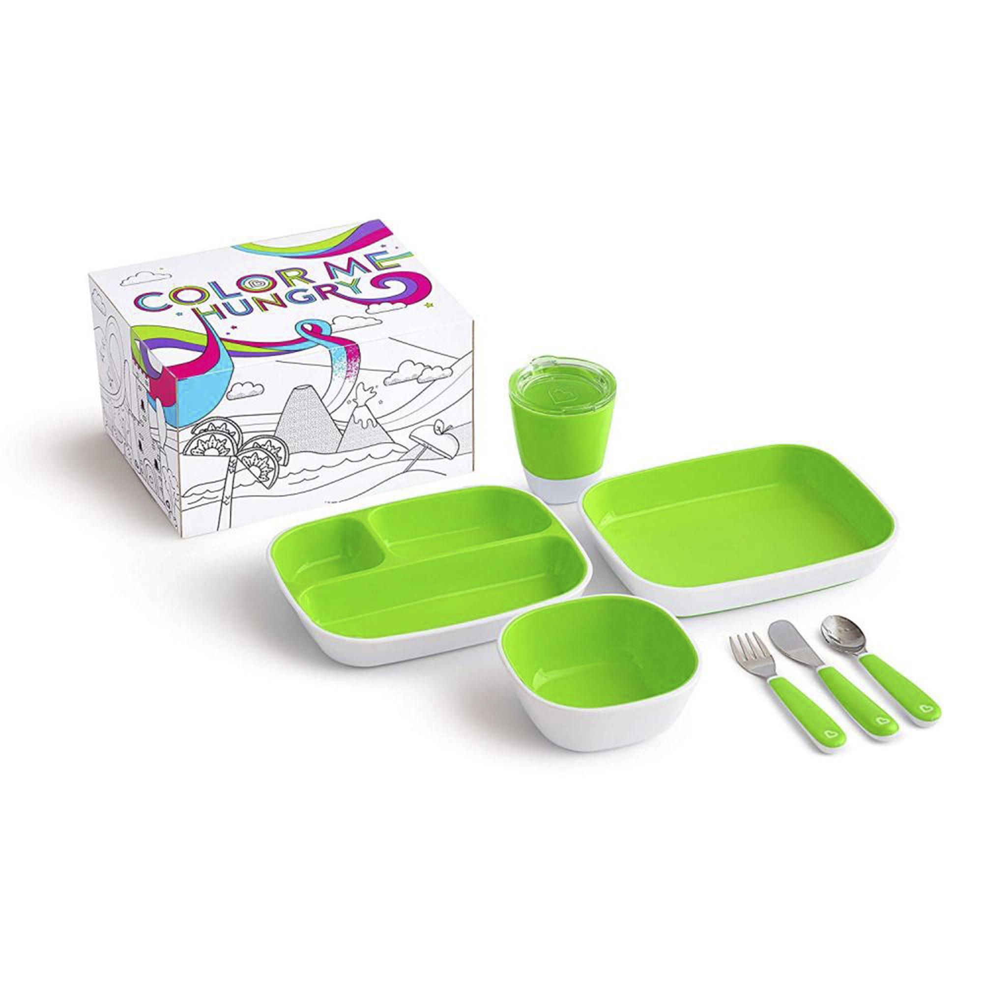 Набор посуды Munchkin Splas 7 предметов зеленый