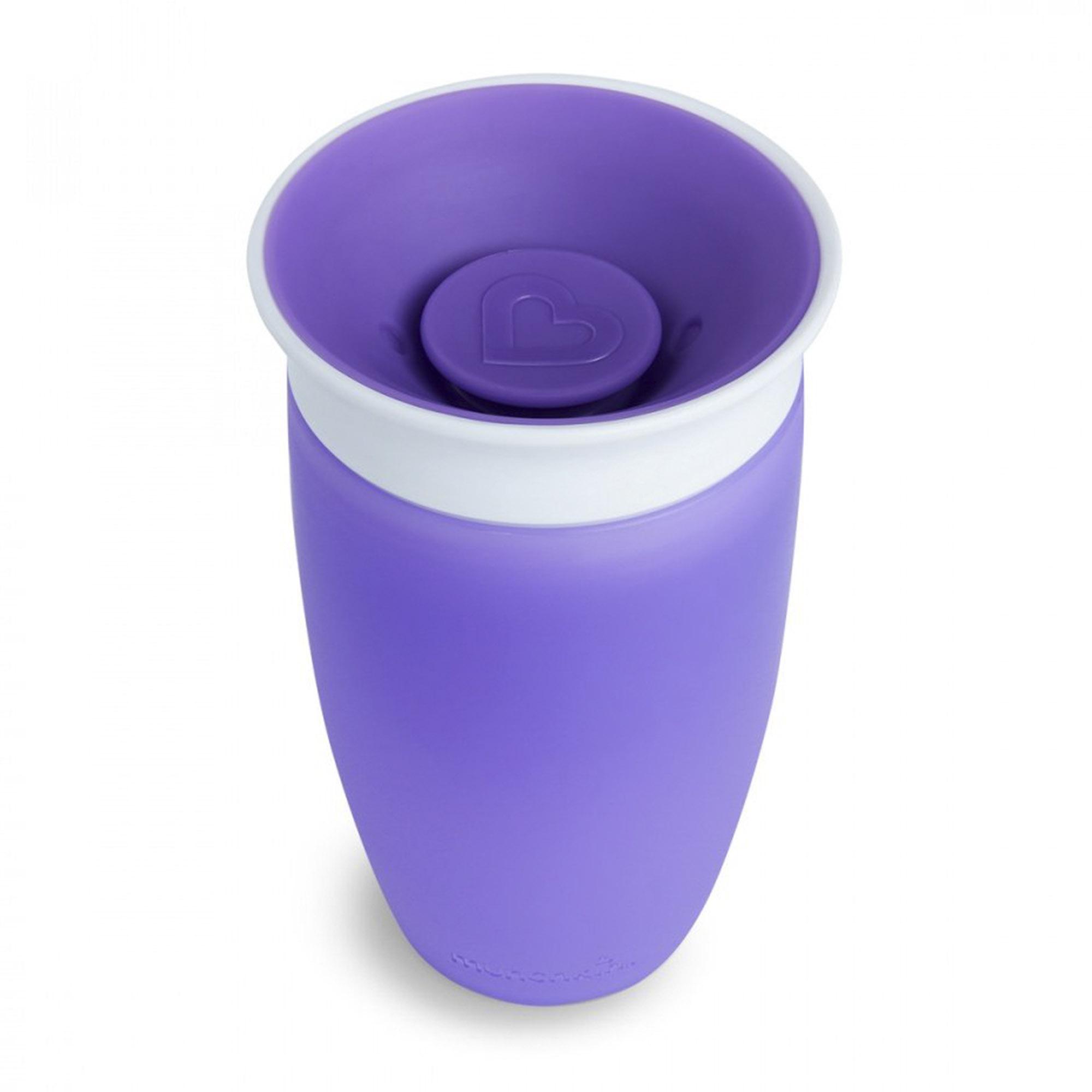 Поильник с крышкой Munchkin MIRACLE 360° непроливайка фиолетовый 296 мл поильник непроливайка munchkin miracle 360° зеленый 296 мл с 12 ти месяцев