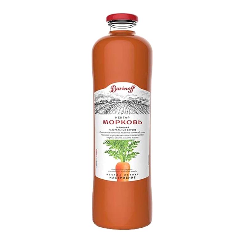 Нектар Barinoff Морковь с мякотью 1 л нектар удачный алычовый 1 л