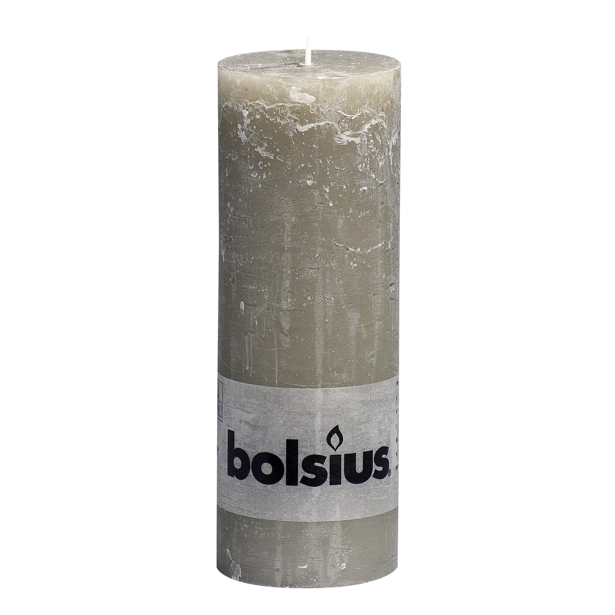 Фото - Свеча Bolsius block Rustic Metallic 19x6,8 см каменно-бежевая свеча bolsius rustic metal gold 8х6 8 см