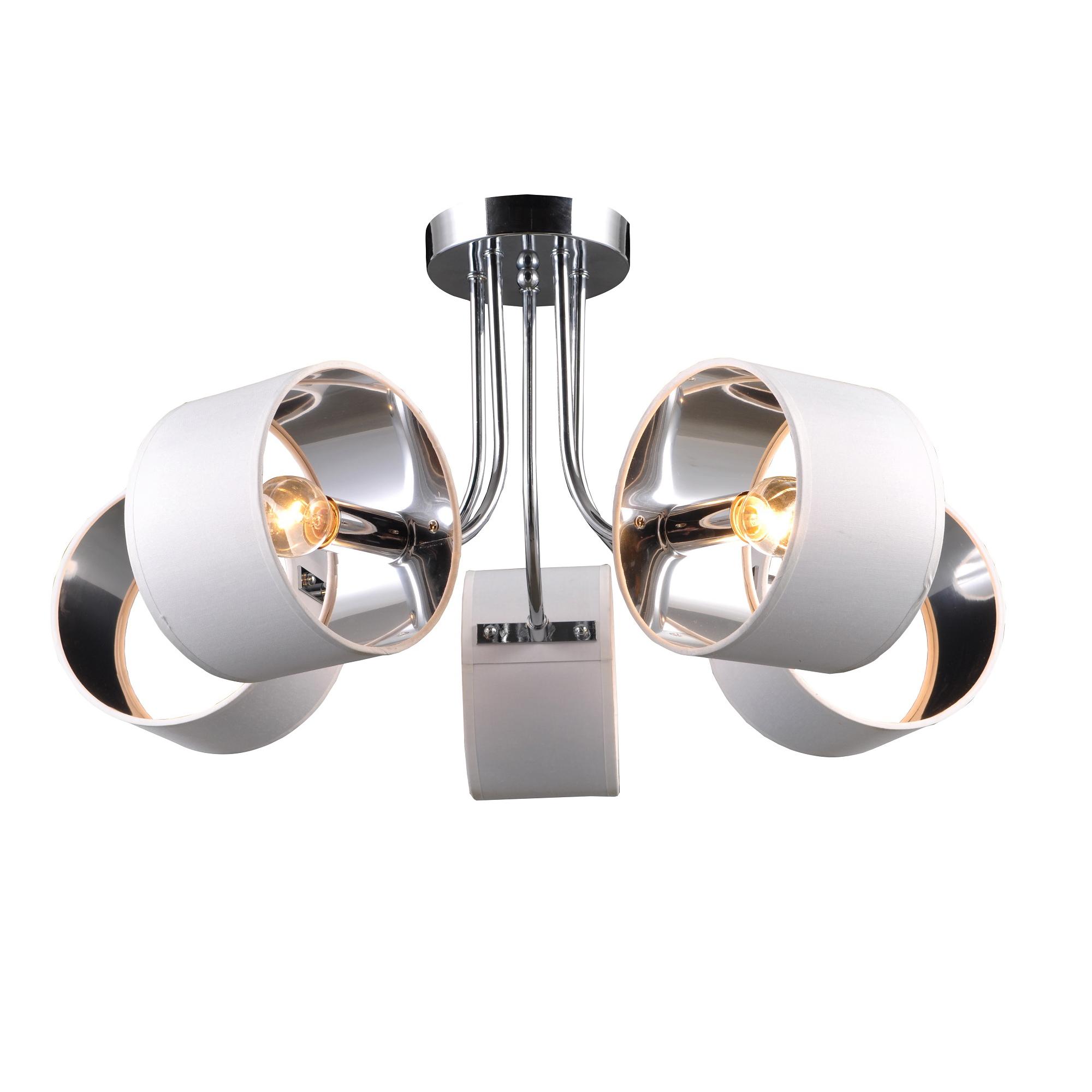 Люстра потолочная J-light BOBBY 1104/5C E14*5*40W хром/хром люстра потолочная j light jeam 1013 8c e14 8 40w черный матовый