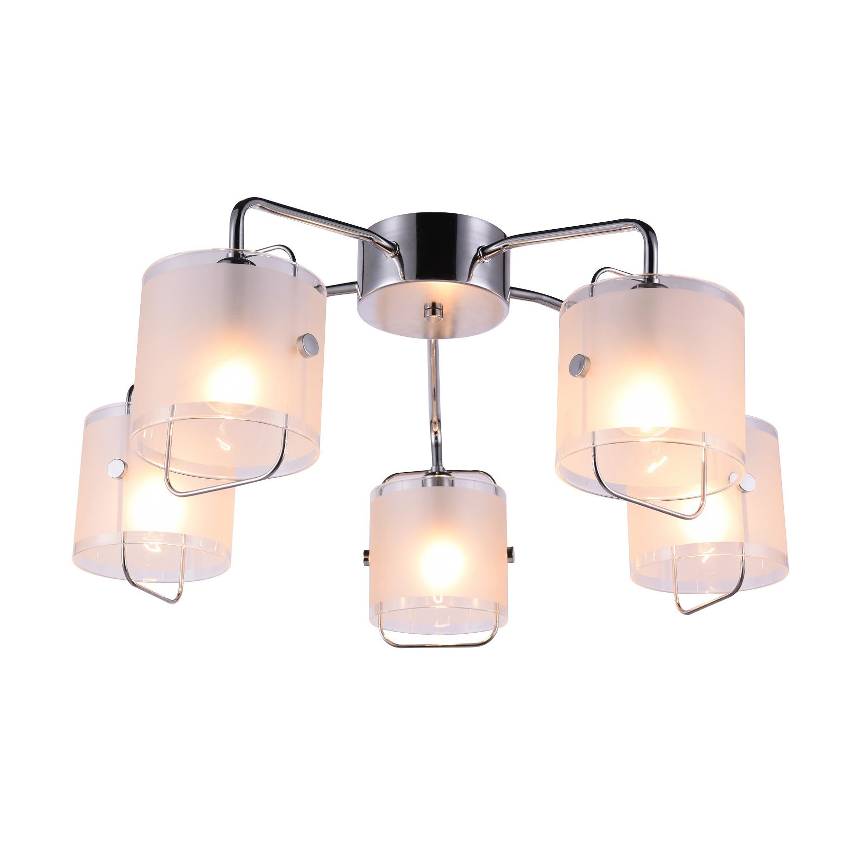 Люстра потолочная J-light NOVA 1031/5C E14*5*40W хром/матовый белый люстра потолочная j light jeam 1013 8c e14 8 40w черный матовый