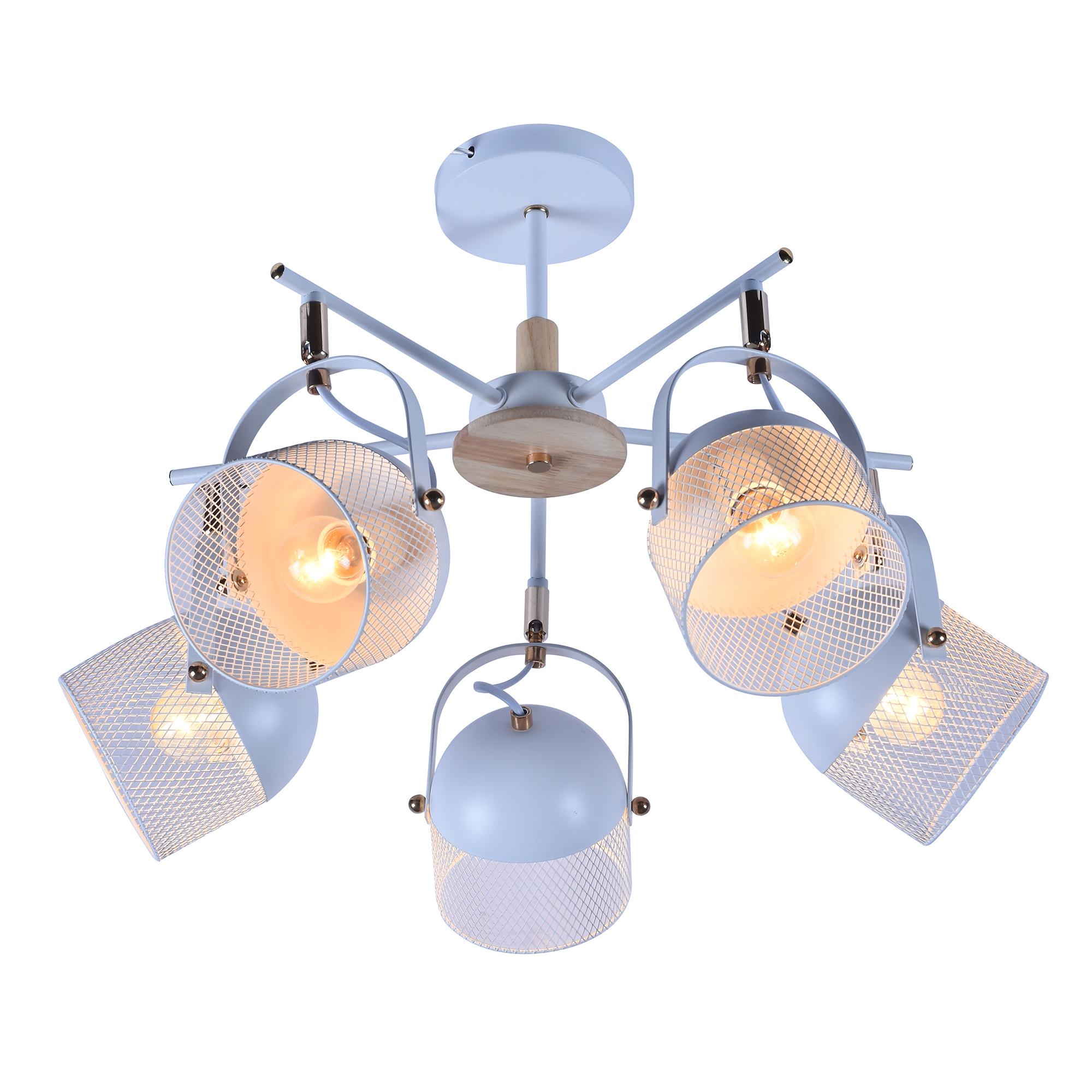 Люстра потолочная J-light ARC 2366/5C E27*5*60W белый/белый люстра потолочная j light genry 1275 5c e14 5 60w кофе золото белый