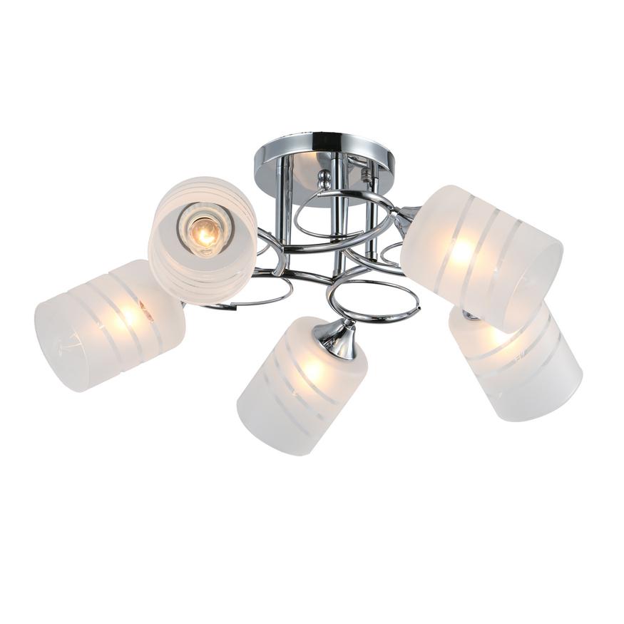 Люстра потолочная J-light LENO 3107/5C E27*5*60W хром/белый люстра потолочная j light genry 1275 5c e14 5 60w кофе золото белый