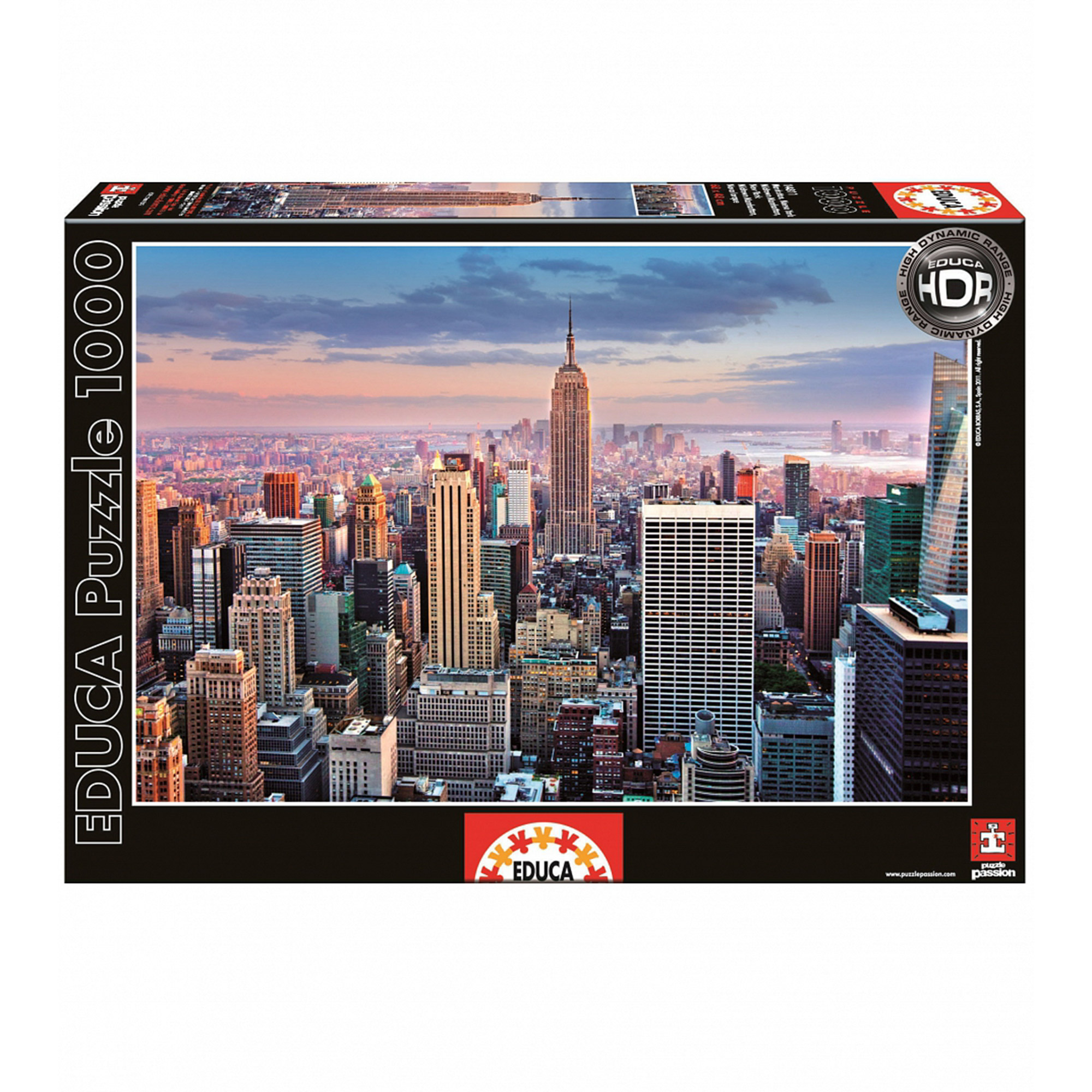 Фото - Пазл Educa Манхеттен, Нью-Йорк 1000 деталей пазл educa мир банкнот 1000 деталей
