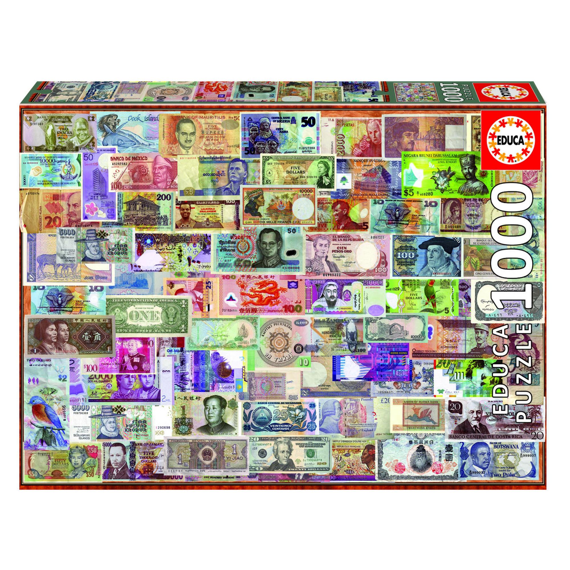 Фото - Пазл Educa Мир банкнот 1000 деталей пазл educa мир банкнот 1000 деталей