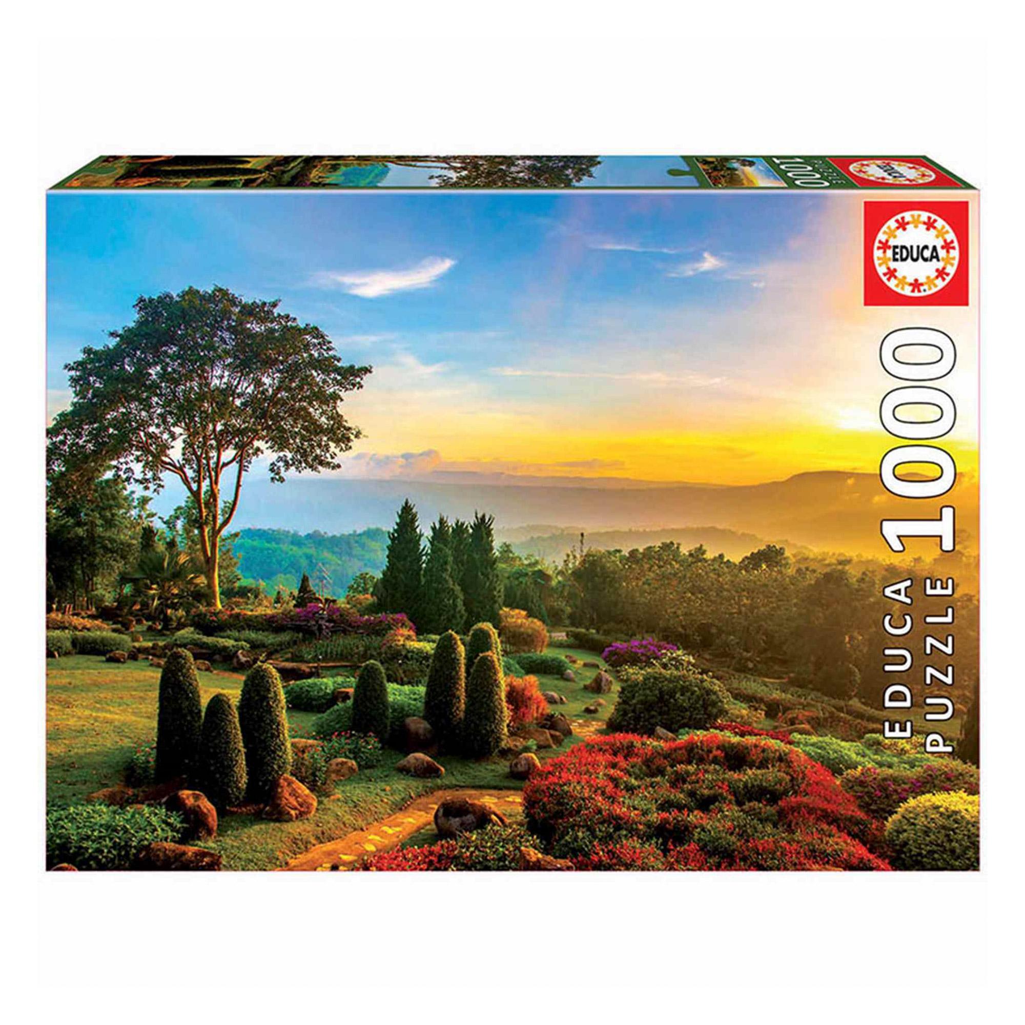 Фото - Пазл Educa Красивый сад 1000 деталей пазл educa мир банкнот 1000 деталей