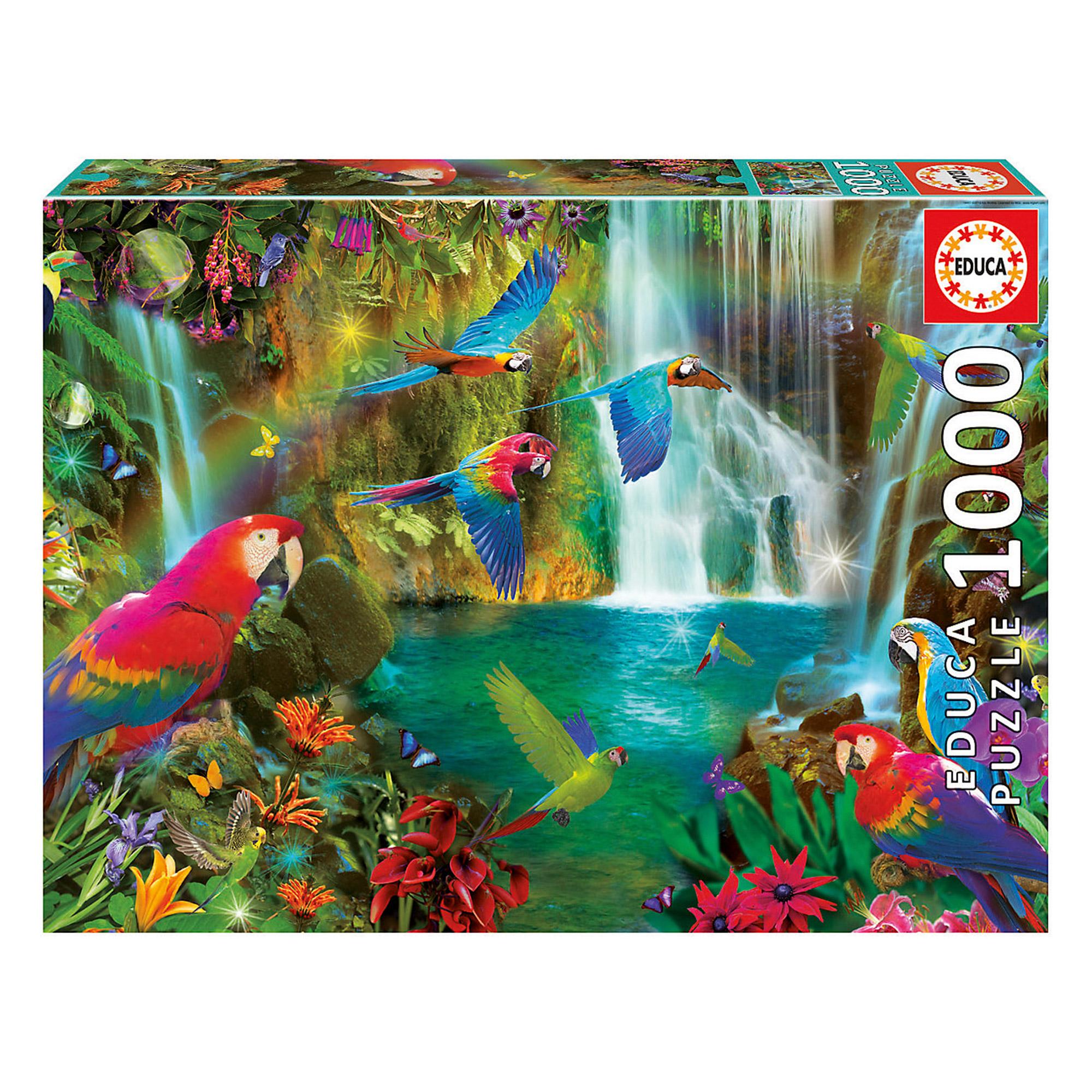 Фото - Пазл Educa Тропические попугаи 1000 деталей пазл educa мир банкнот 1000 деталей