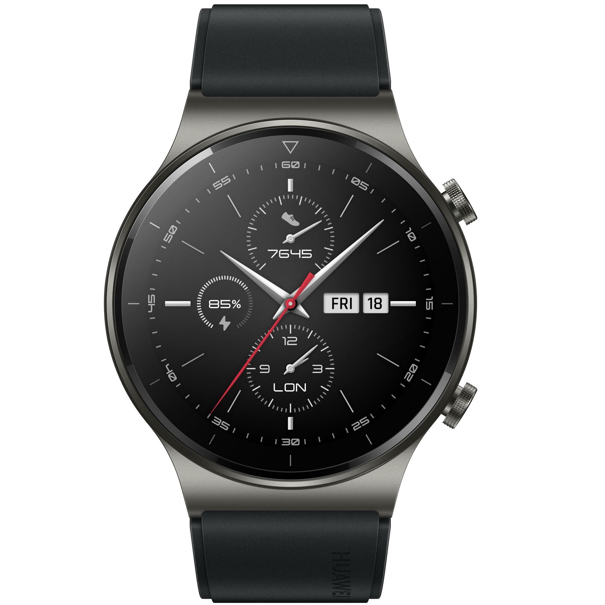 Фото - Смарт-часы Huawei Watch GT 2 Pro VID-B19 Night Black смарт часы samsung galaxy watch 1 3 super amoled серебристый sm r800nzsaser