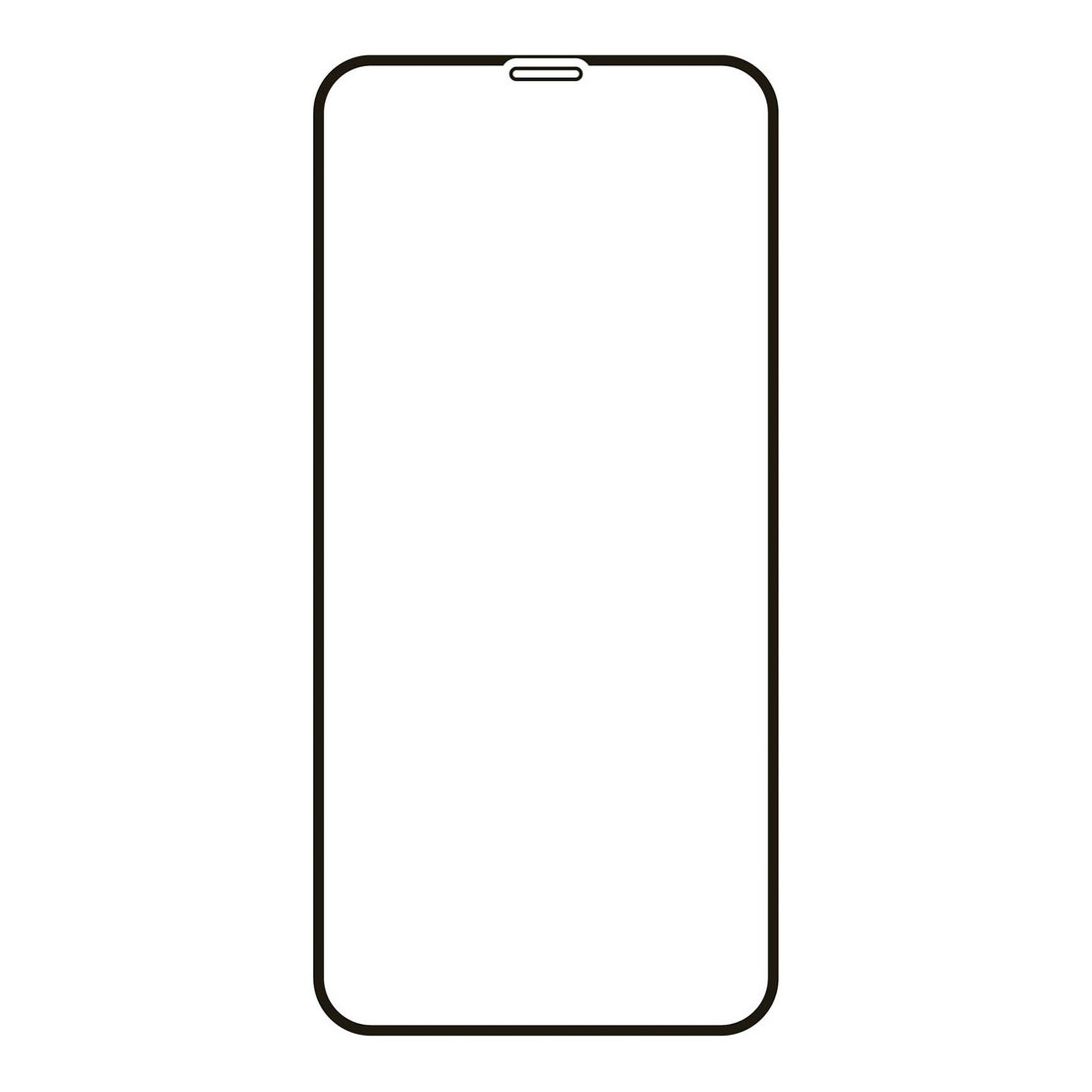 Защитное стекло VLP 2.5D для Apple iPhone 12/12 Pro, чёрная рамка