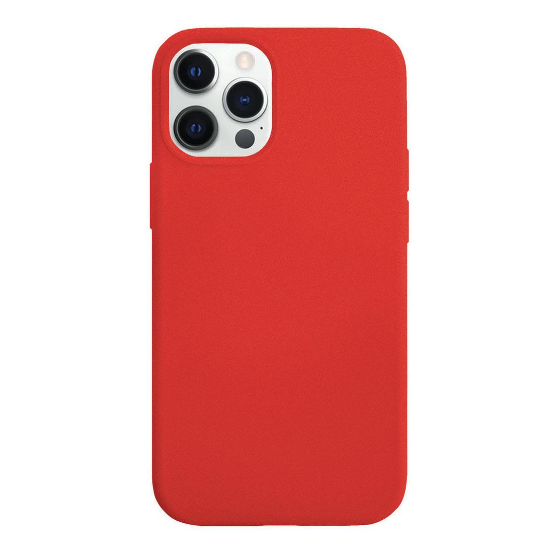 Чехол VLP Silicone Case для смартфона Apple iPhone 12/12 Pro, красный