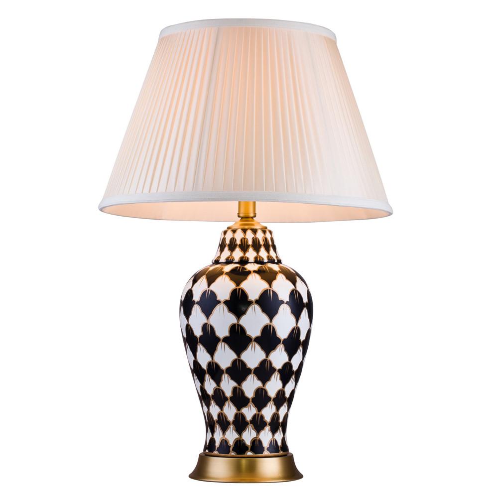 Фото - Лампа настольная Lucia tucci белая с черным 68х42 настольная лампа lucia tucci harrods t942 1 60 вт