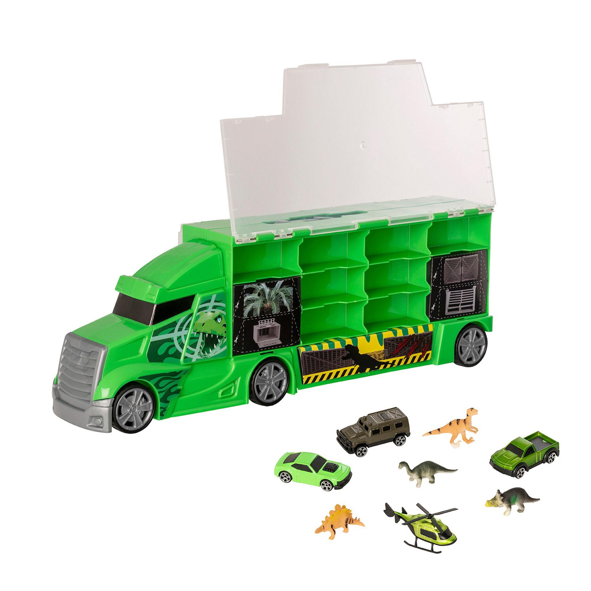 Фото - Набор игровой HTI Teamsterz Автоперевозчик с транспортными средствами и динозаврами трек hti teamsterz турбо прыжок