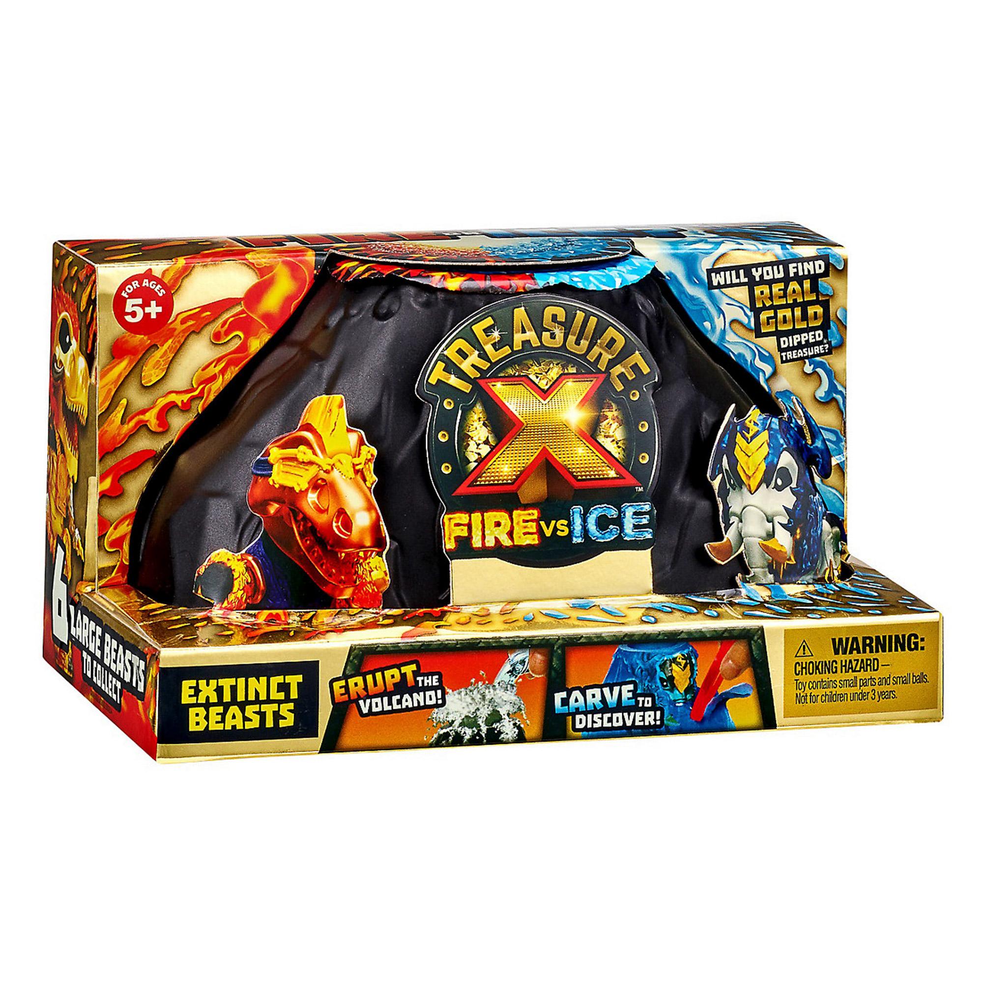 Игровой набор Moose Treasure X Вулкан Огонь vs Лед игровые наборы treasure x набор вулкан огонь vs лед