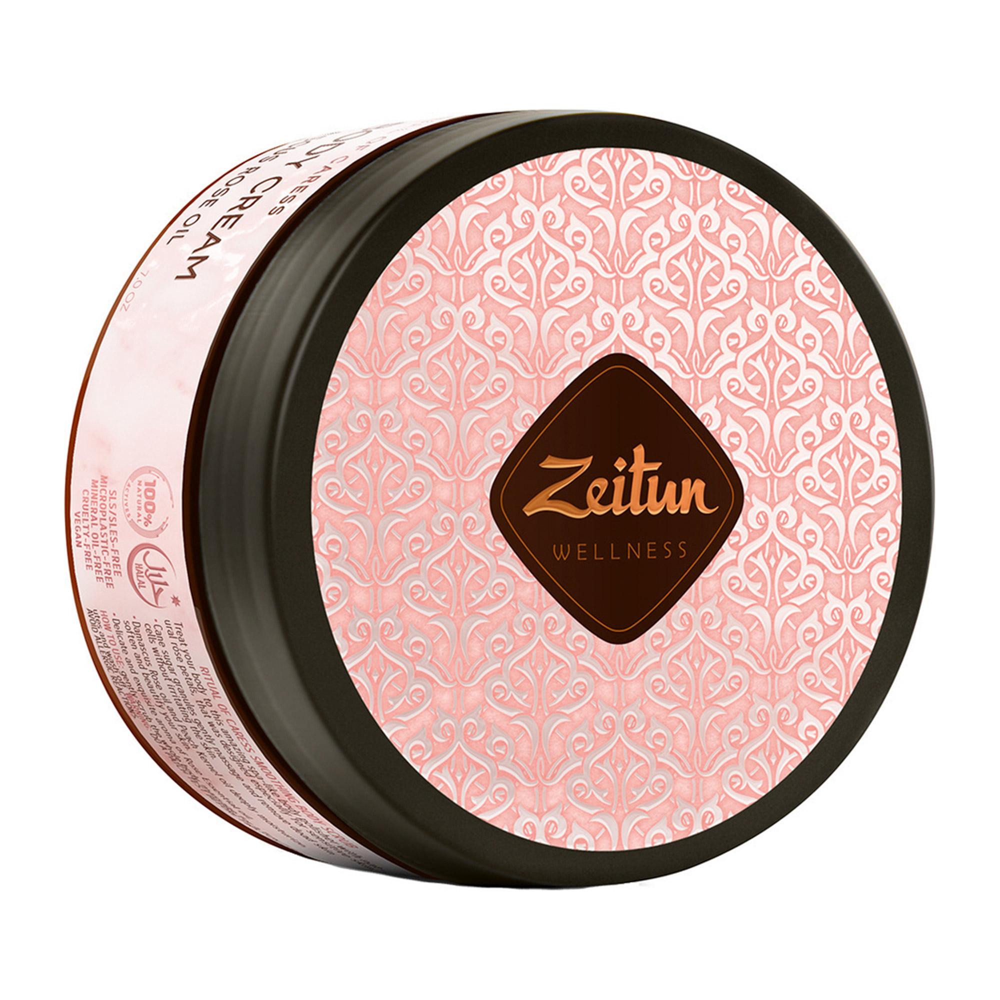Крем для тела Zeitun Ритуал нежности с дамасской розой и маслом персика 200 мл zeitun мыло бельди 3 с дамасской розой 250 мл
