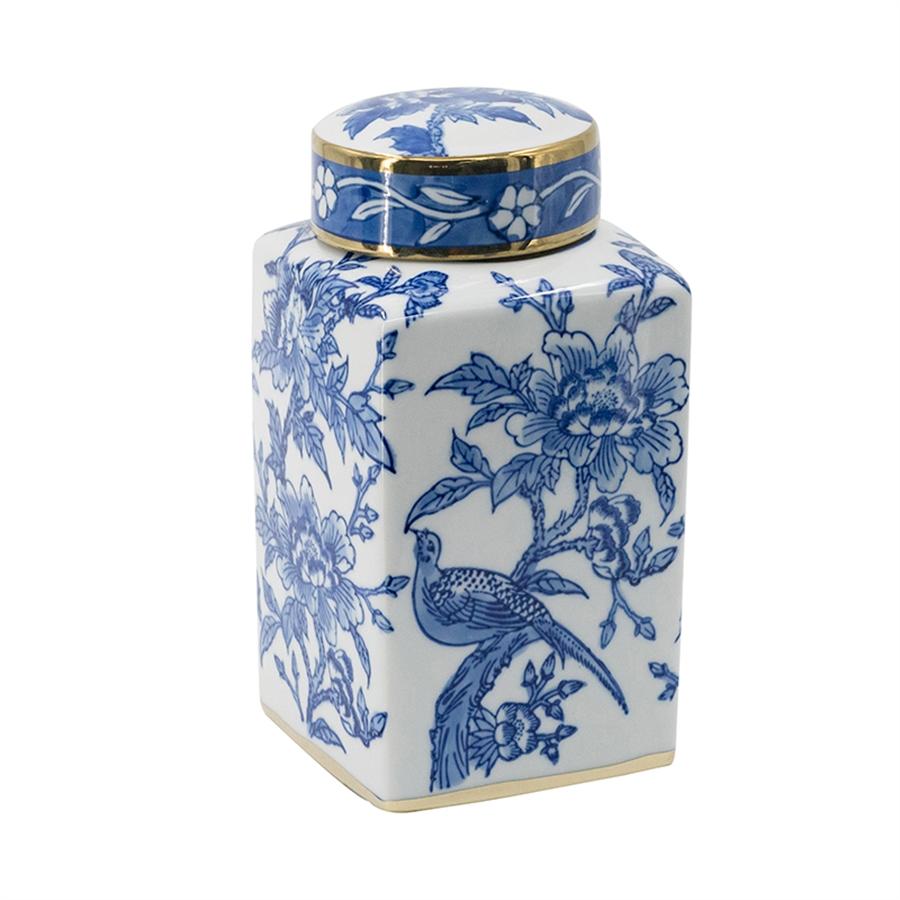 ваза с крышкой мэри стекло 19 см Ваза с крышкой Glasar 14x14x27см