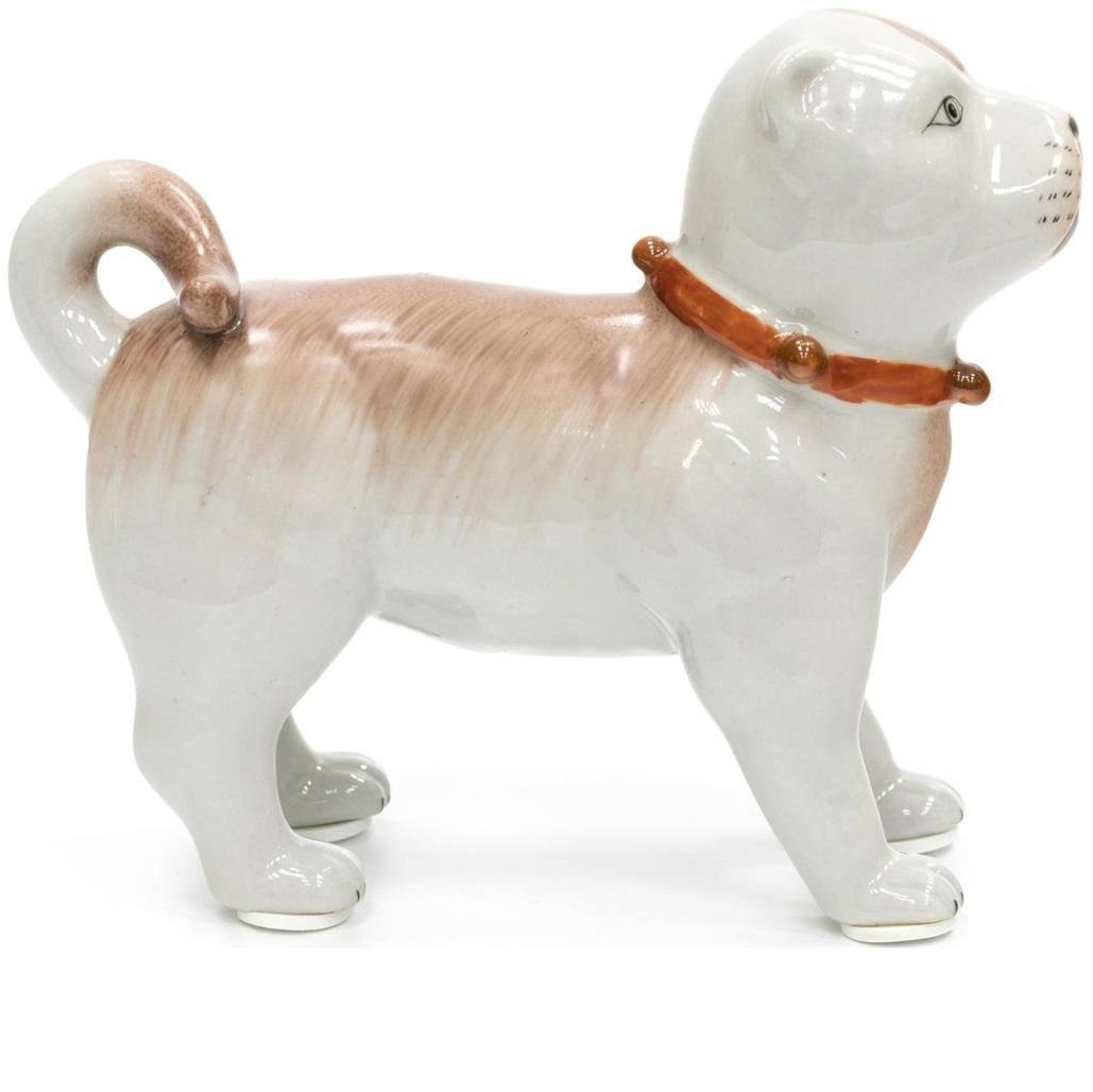 Статуэтка собака Glasar ручной работы 15x5x12см