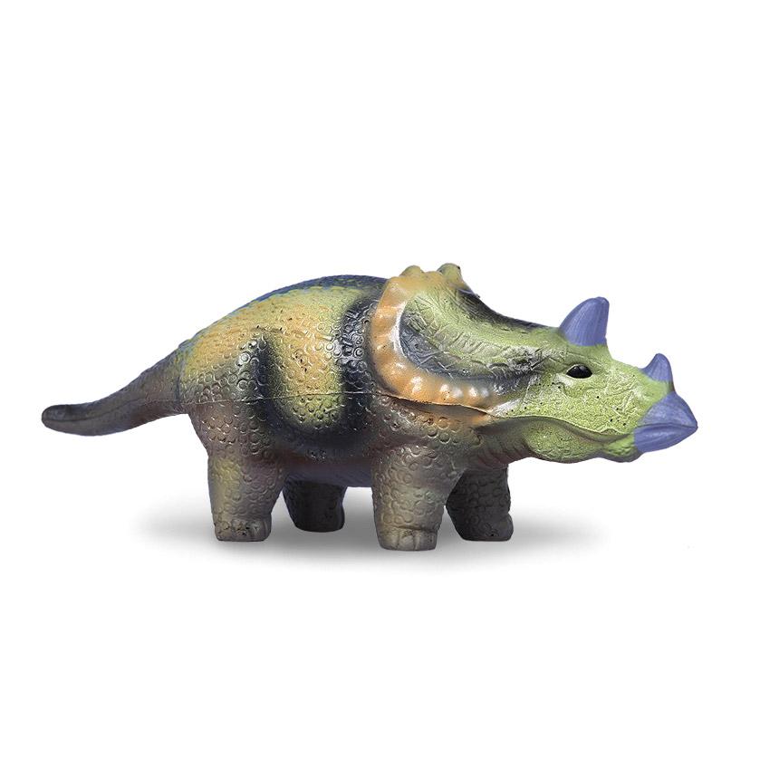 Игрушка-сквиш Maxitoys Антистресс-Динозавр. Трицератопс 23 см