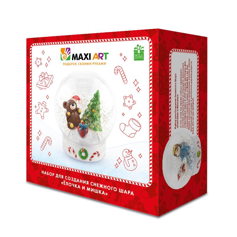Фото - Набор для создания снежного шара Maxi Art Елочка и мишка набор для творчества maxi art сумка летняя фантазия