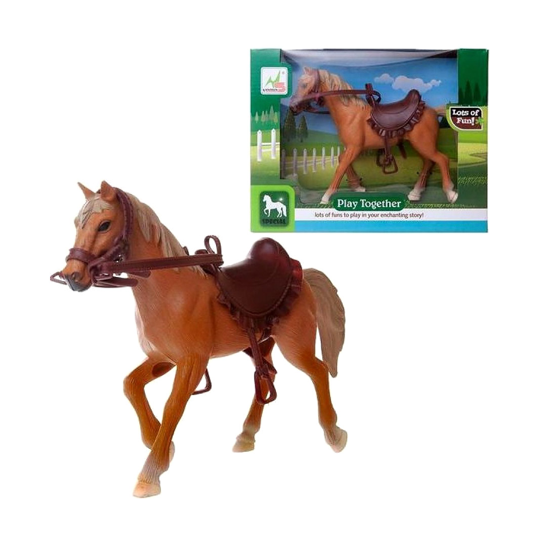Лошадка Junfa бежевая