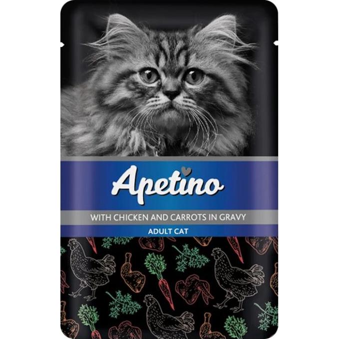 Корм для кошек Apetino Курица, морковь в соусе 85 г
