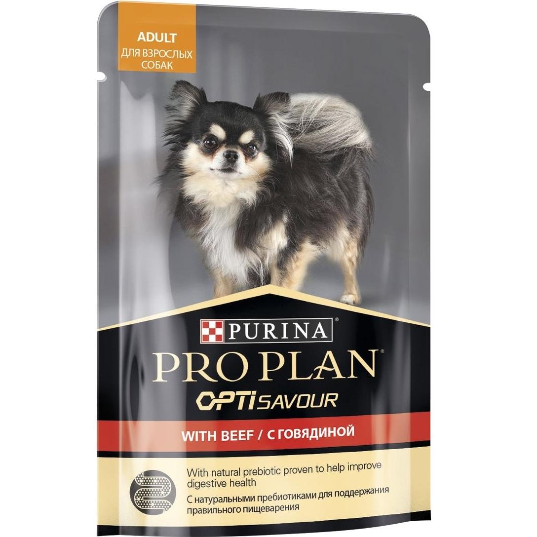 Корм для собак Purina Pro Plan Для собак мелких и карликовых пород c говядиной в соусе 100 г.