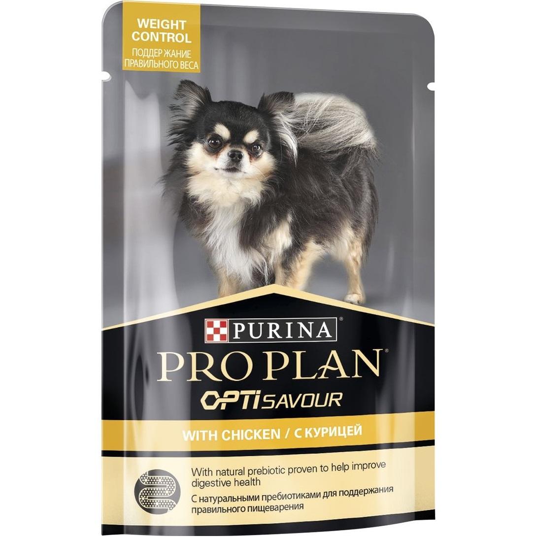 Корм для собак Purina Pro Plan Для собак склонных к набору веса мелких и карликовых пород c курицей 100 г.