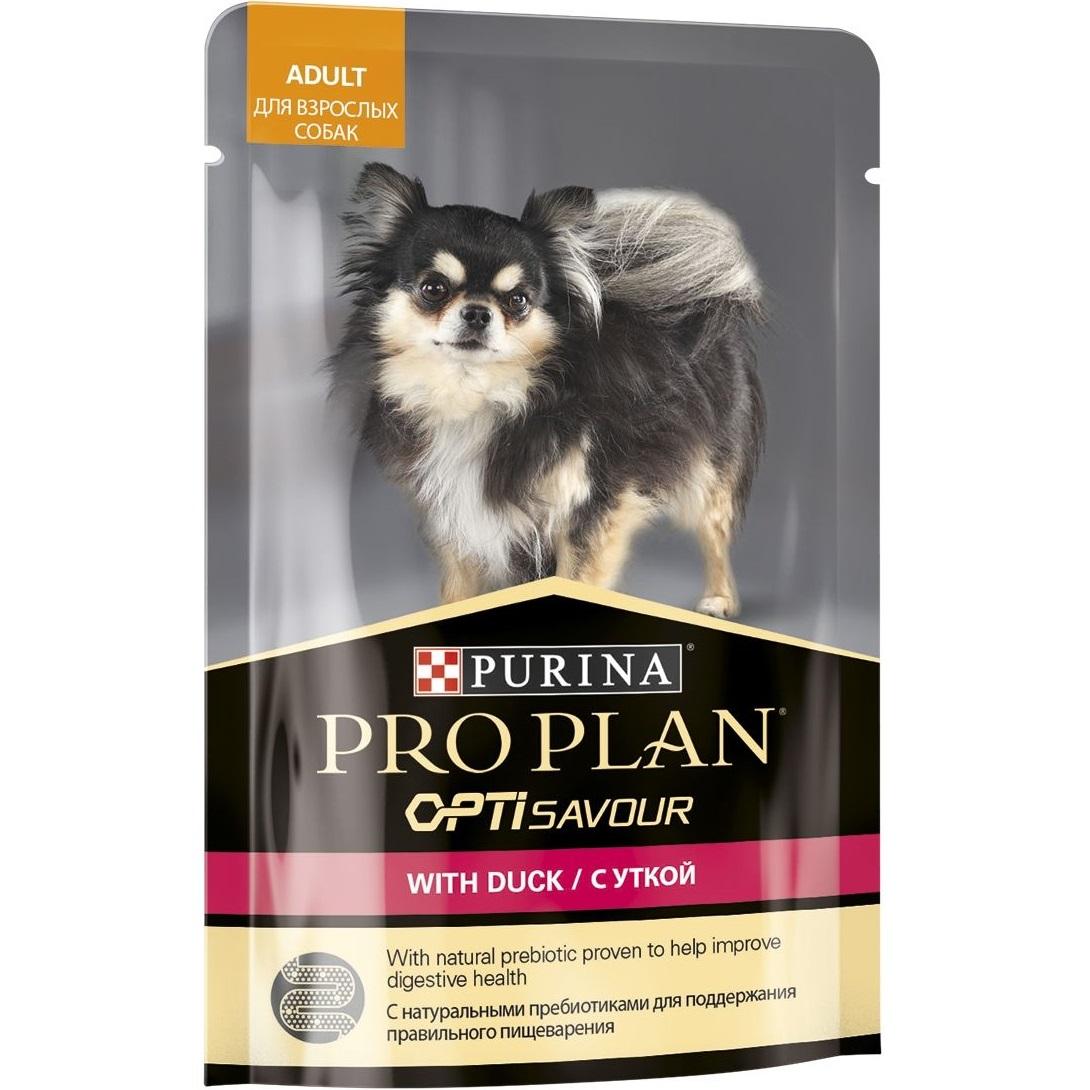 Корм для собак Purina Pro Plan Для собак мелких и карликовых пород c уткой в соусе 100 г.
