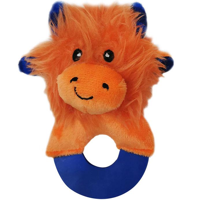 Игрушка для собак CHOMPER Meadow Звери на кольце с пищалкой плюш 13 см.
