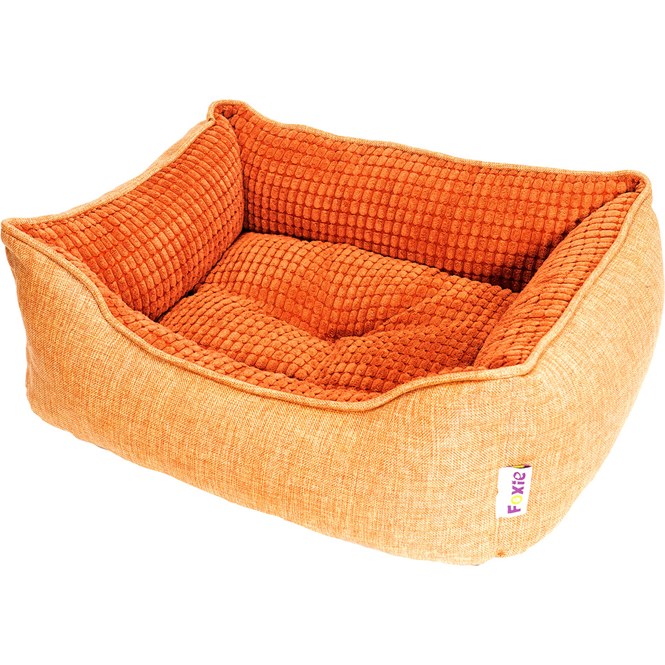 Лежак для животных Foxie Colour 60x50x18 см оранжевый.