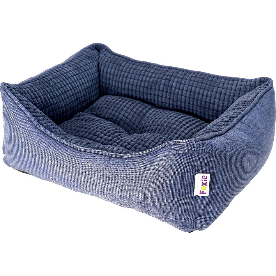 Лежак для животных Foxie Colour 60x50x18 см синий.