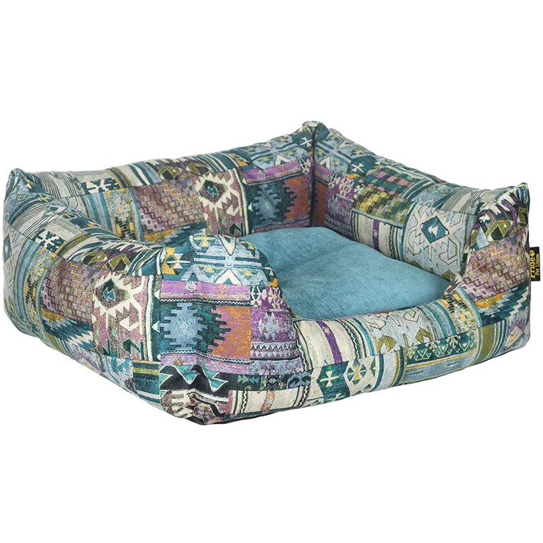 Лежак для животных Pride Этника 60х50х18 см бирюзовый.