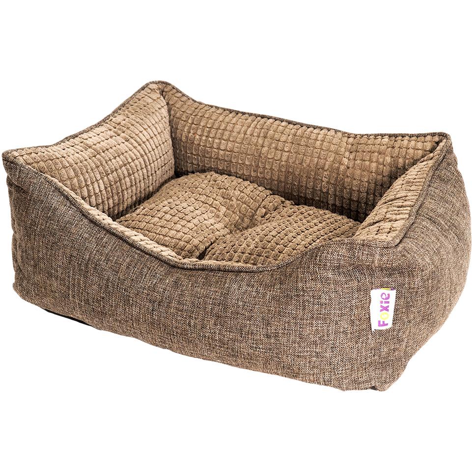 Лежак для животных Foxie Colour 60х50х18 см коричневый.