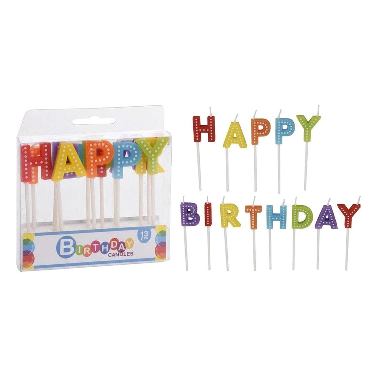Набор свечей Koopman Party Happy Birthday