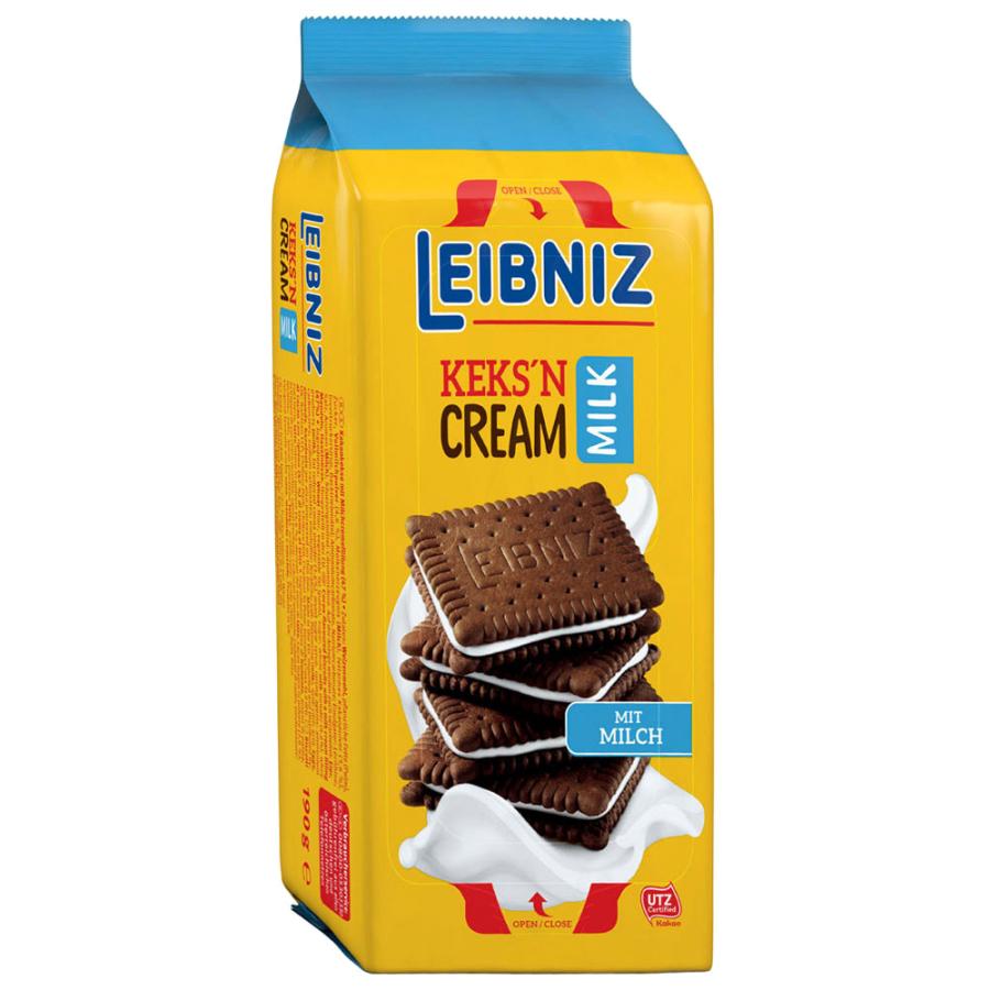 Печенье-сэндвич Bahlsen Leibniz Какао с молочным кремом 190 г печенье bahlsen choco leibniz