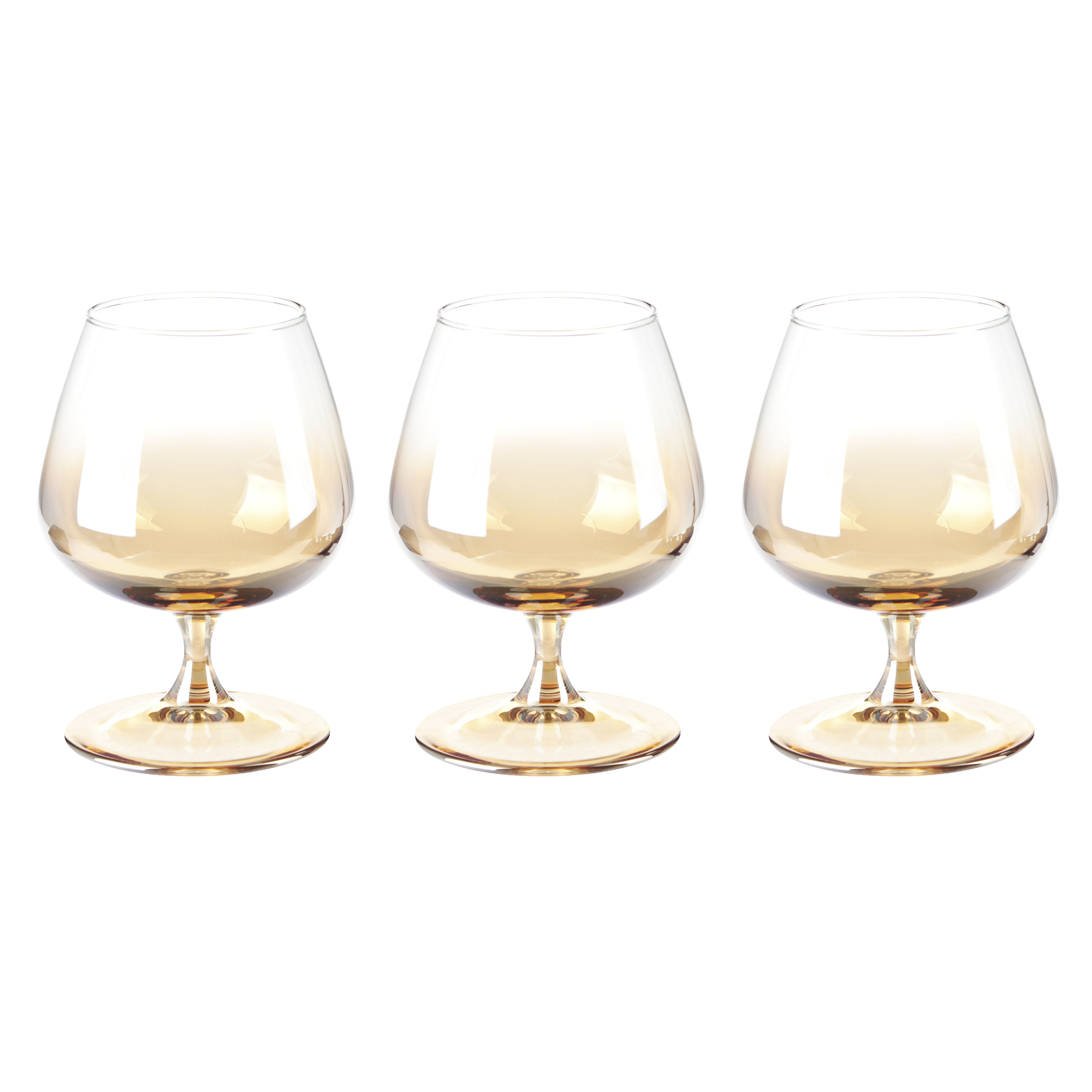 Набор бокалов Glasstar Эталон Медовый омбре 410 мл 3 шт набор стаканов glasstar графитовый омбре 310 мл 6 шт
