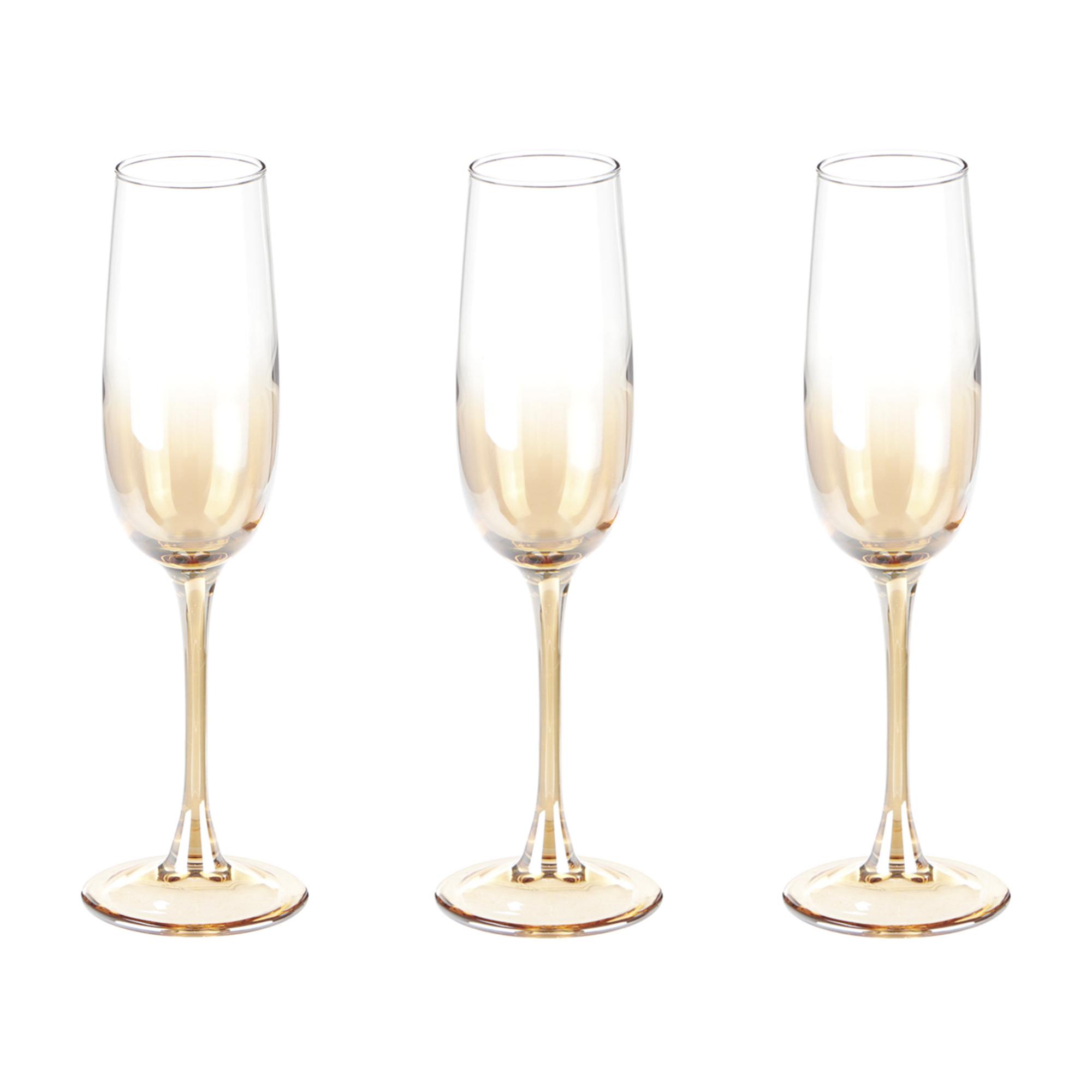 Набор бокалов Glasstar Аллегресс Медовый омбре 175 мл 3 шт набор стаканов glasstar графитовый омбре 310 мл 6 шт