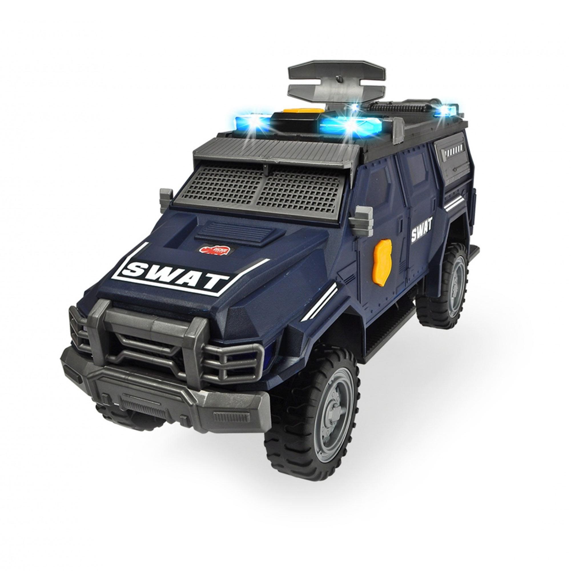 dickie toys машинка трансформер боевой трейлер optimus prime Машинка спецназа Dickie Toys моторизированная 40 см