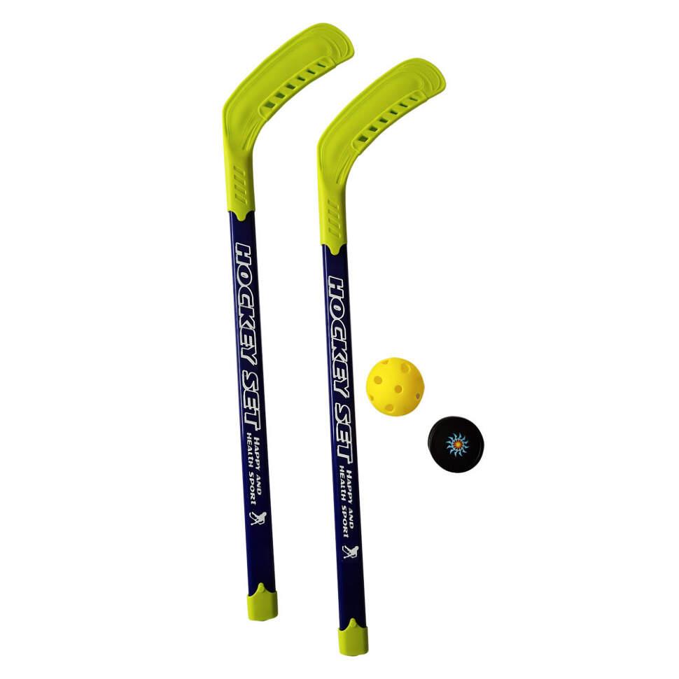 Набор Хоккейный 1Toy : 2 Клюшки Пластик 77 См, Шайба, Мячик