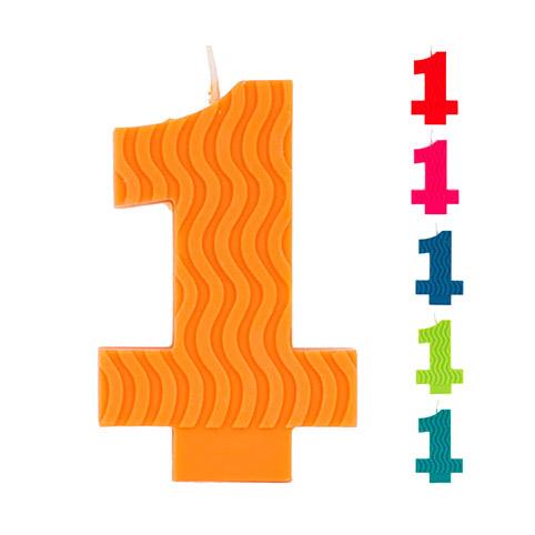Свеча Веселая Затея ЭКО Цифра 1 в ассортименте 7 см
