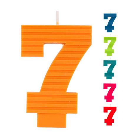 Свеча Веселая Затея ЭКО Цифра 7 в ассортименте 7 см