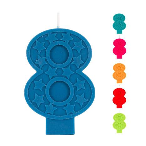 Свеча Веселая Затея ЭКО Цифра 8 в ассортименте 7 см