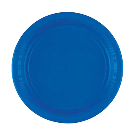 Фото - Набор тарелок Amscan Bright Royal Blue 17 см 8 шт спирали amscan пастель 55 см 12 шт