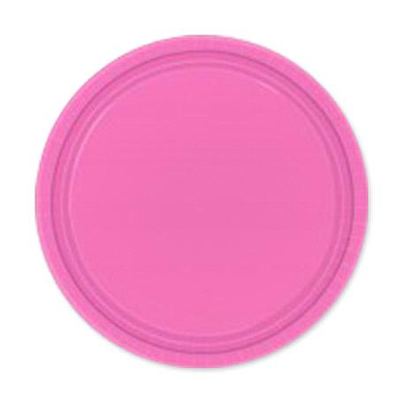 Фото - Набор тарелок Amscan Bright Pink 17 см 8 шт спирали amscan пастель 55 см 12 шт