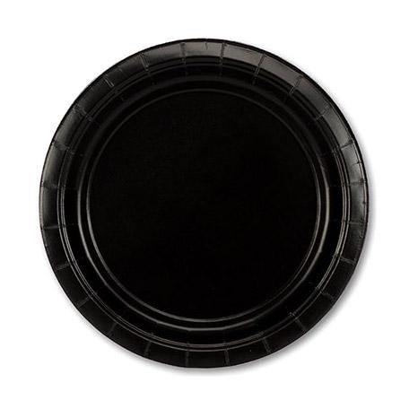 Фото - Набор тарелок Amscan Jet Black 17 см 8 шт спирали amscan пастель 55 см 12 шт