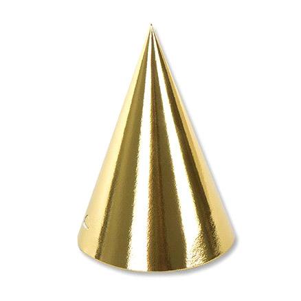 Колпак фольгированный Веселая Затея золотой 6 шт