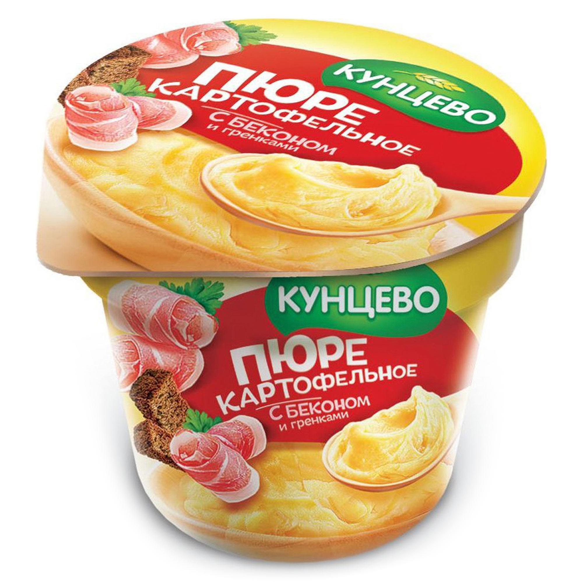 Картофельное пюре КУНЦЕВО со вкусом бекона и гренками 40 г