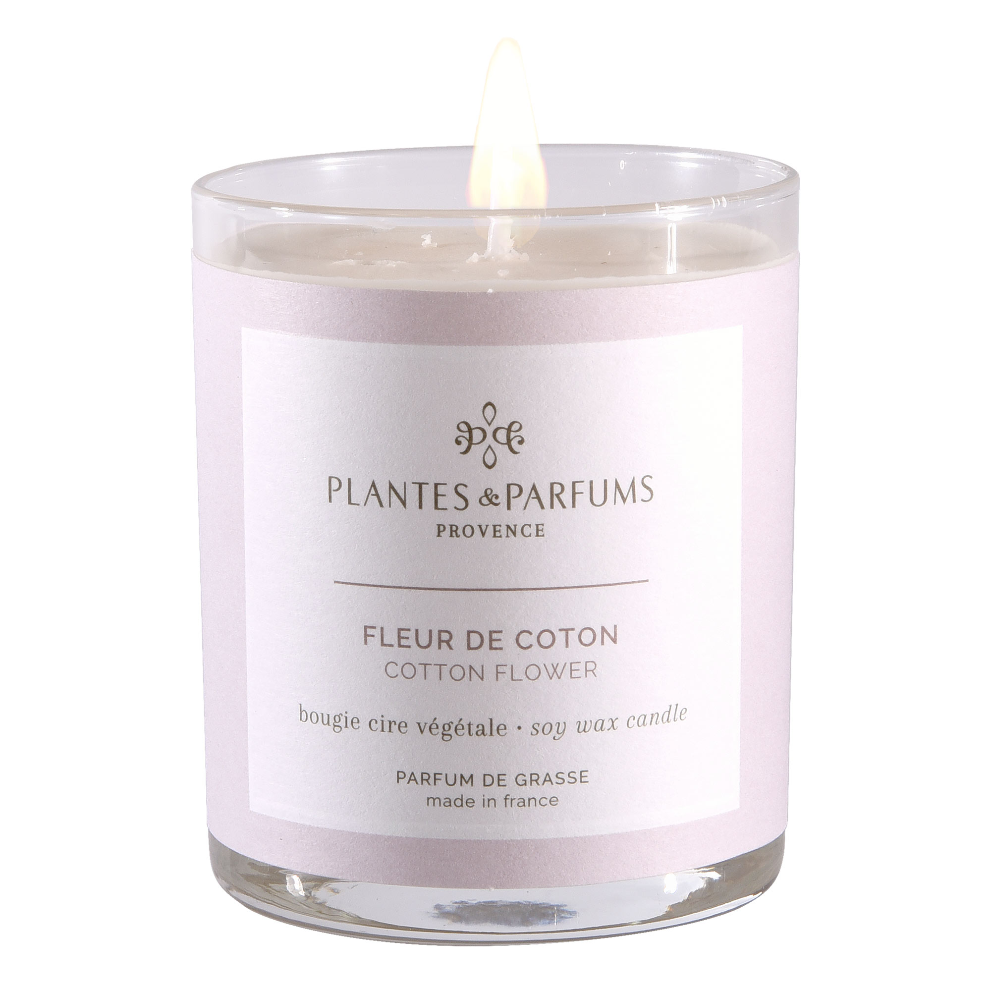 Ароматическая свеча Plantes et Parfums Цветок хлопка 180 г ароматическая свеча plantes et parfums сверкающие звезды 75 г