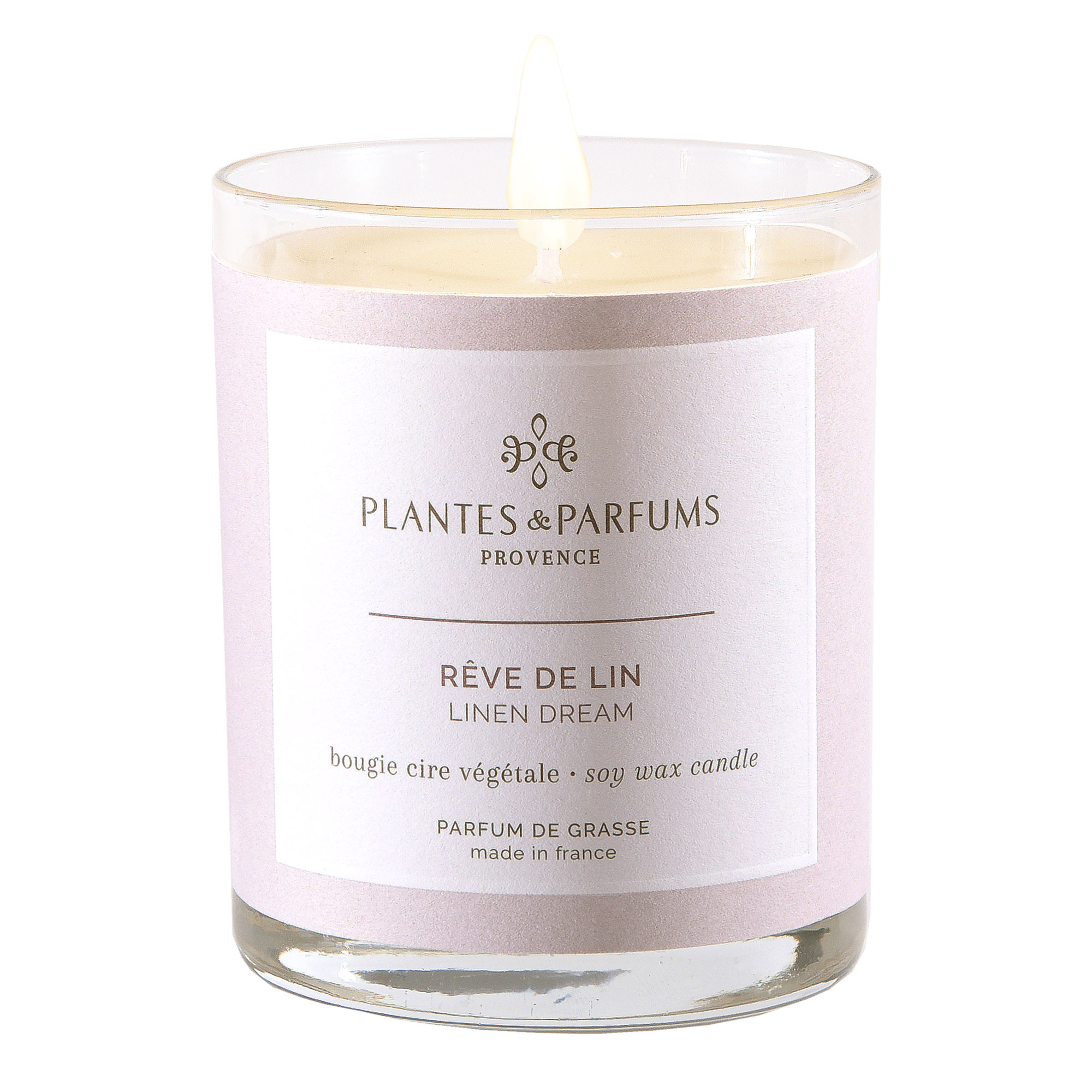 Ароматическая свеча Plantes et Parfums Нежность льна 180 г ароматическая свеча plantes et parfums сверкающие звезды 75 г