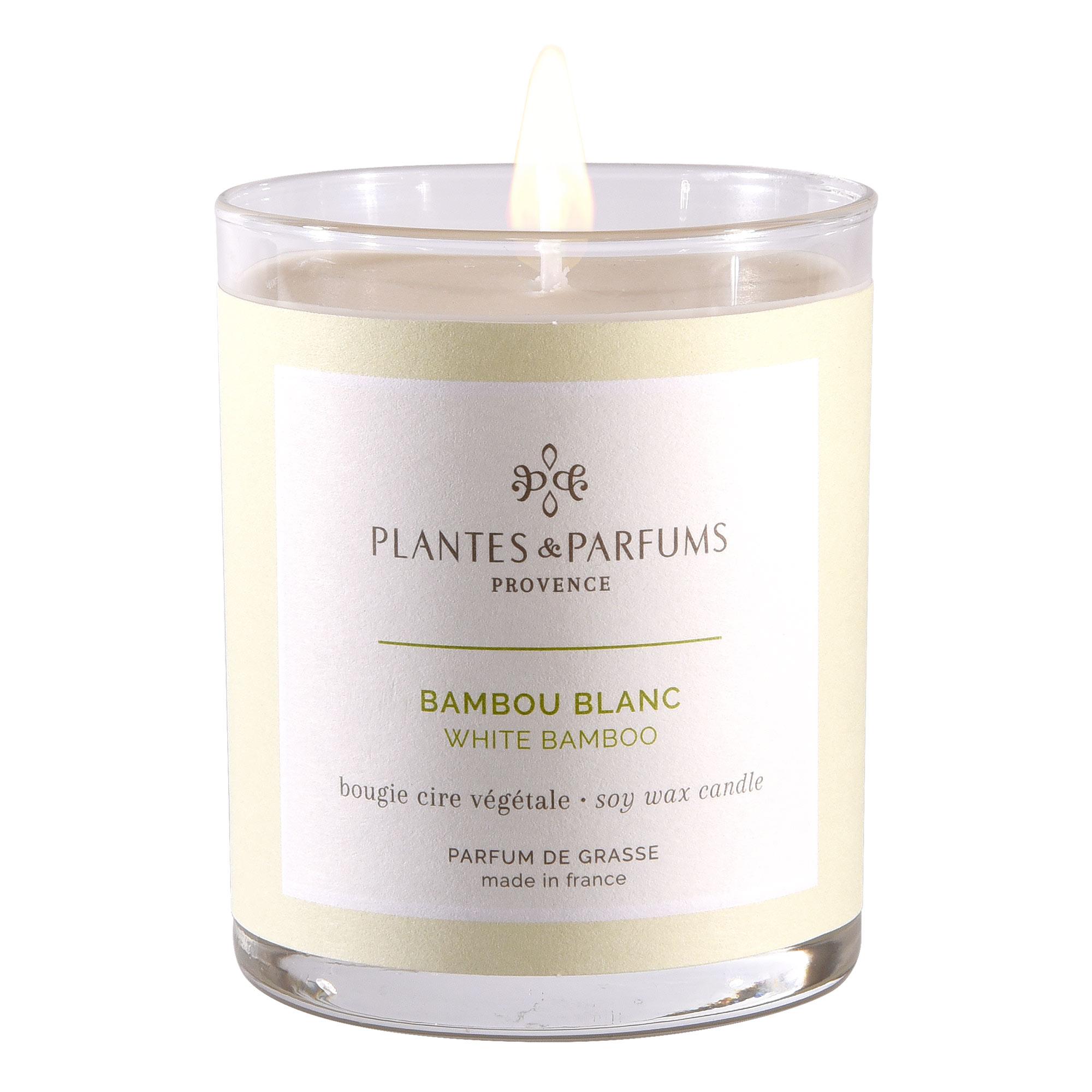 Ароматическая свеча Plantes et Parfums Белый бамбук 180 г ароматическая свеча plantes et parfums сверкающие звезды 75 г